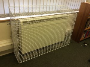 AIANO manufactured and installed sloping top radiator guards for New Eltham Library and Coldharbour library.