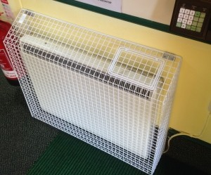 In addition to its sloping top range of heater guards, AIANO has recently started testing its new range of low surface temperature heater guards.