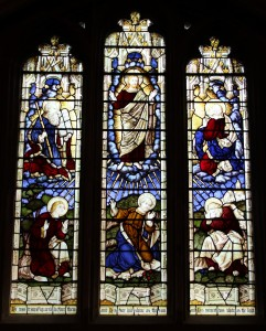 This beautiful stained glass window depicting the Transfiguration of Our Lord in St. Nicholas church