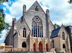 Woven-mesh window guards were provided for Highgate Road Chapel in North London