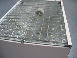 AIANO bespoke wire mesh guard used as an internal light guard.