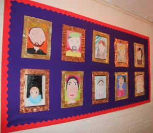 Art work on display at Dollis Junior School for which AIANO manufactured bespoke heater guards