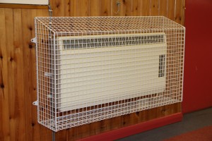 One of the sloping top heater guards AIANO manufactured for 4th East Barnet Scout group.