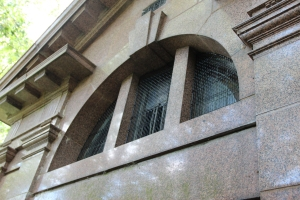 AIANO stainless steel window guards at Pocklington mausoleum