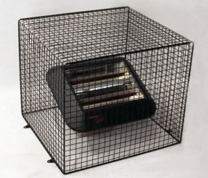 Unlike clip on quartz heater guards, this is an AIANO QXD3000-AIA-BLK cage style wire mesh quartz heater guard