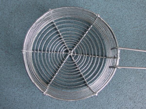 AIANO bespoke wire mesh guard used as a chip fry basket