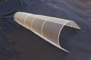 "AIANO bespoke flue guards in 2 pieces made from 1/4"" x 1/4"" x 22swg mesh."