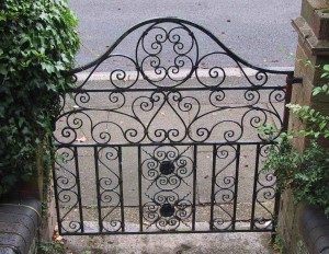 AIANO bespoke wire mesh guard used as a gate.