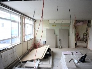 When AIANO conducted the site survey, this was the condition of the classrooms, several weeks before the school was due to open.